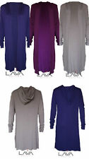 Hooded Long Sleeve Jumper & Cardigan Plus Size for Women