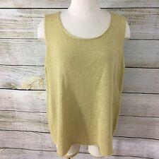 NWT Eileen Fisher Size 1X 100% Linen Sweater Shell Rafia Jewel Neck Sleeveless