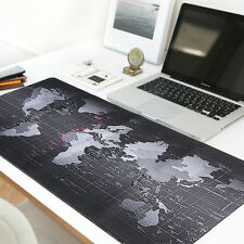 80x30cm Large World Map  Mouse Pad Speed Game For Laptop Computer Keyboard Mat