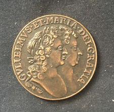 More details for super william & mary *1693* irish half penny / british coins
