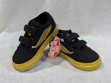 Vans Toddler Boy's Old Skool V Black/Gold Harry Potter Skate Shoes - Size 8.5 NB