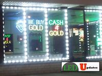 LEDUPDATES 50FT STOREFRONT LED LIGHT SUPER BRIGHT WHITE 5630 NO POWER SUPPLY
