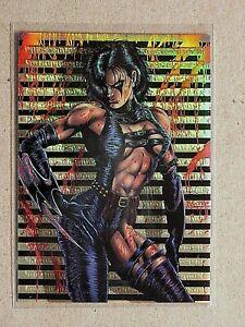 Razor-Metal & Flesh-KROME-Kyle Hotz-Assassin-Comic-Book-Sexy-Chrome Card