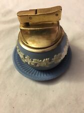 Blue Wedge wood Lighter And Ashtray Set