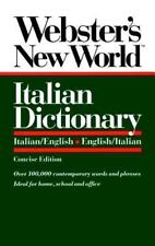 Webster's New World Italian Dictionary: Italian/English English/Italian
