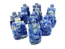 Hand Carved Ganesh Lapis Lazuli  Lord Ganesha Mini Statue Car Office Table