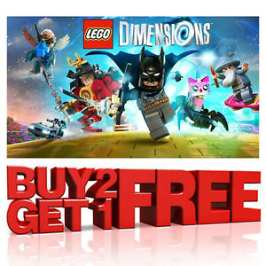 LEGO DIMENSIONS FIGURES VEHICLES TAGS PORTALS GAME - PS4 PS3 XBOX ONE 360 WII U