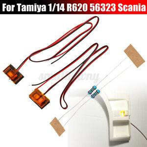 LED Seite Pedal Turn Licht Lampe Set Für Tamiya 1/14 Scania R620 56323 RC