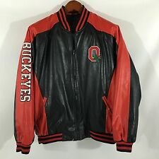 Steve and Barry's Faux Leather Red/Black Ohio State Buckeyes Jacket Extra Large