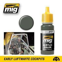 Ammo of Mig Jimenez Acrylic Color RLM 02 Green Slate 17ml #0217