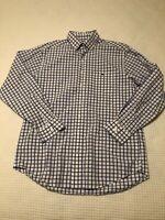 Vineyard Vines Button Down Tucker Shirt Whale Medium Long Sleeve Blue Cotton Men