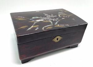 Vintage Japanese Laquered Musical Box Jewellery Box By Mele