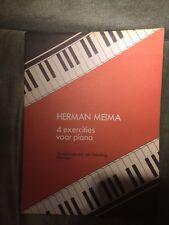 Herman Meima 4 exercices exercities voor piano partition éditions van Teeseling