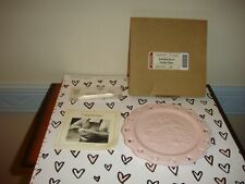 Longaberger Sweetest Heart Candle Plate