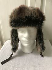 Mens  Brown Faux Fur Trappers Hat By Peter Storm . Thinsulate , L/ XL. Skiing