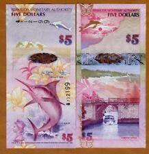 Bermuda, $5, 2009, Hybrid Polymer, P-58, First Prefix Onion, QEII, UNC