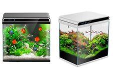AllPondSolutions Nano Tropical Clear Glass LED Light Aquarium Fish Tank - 12L
