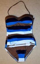TOMMY BAHAMA $147 4 S multicolored striped 1pc swimsuit Bathing suit strapless