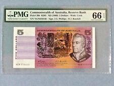 Australia 5 Dollars P-39-B ND(1969) Graded PMG 66 EPQ