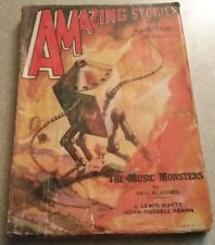 Amazing Stories April 1938 Pulp Magazine The Music Monsters JOHN RUSSELL FEARN +
