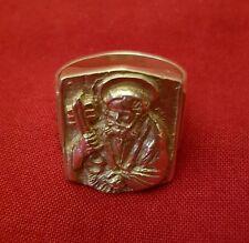 papa francesco ring anello in argento anello di san pietro il pescatore  top!!!
