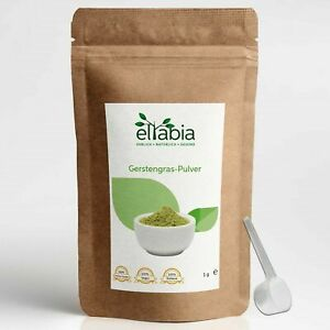 Barley Grass Powder for Juice Natural Superfood Made in Germany eltabia