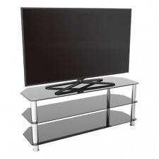 """TV Stand Modern Black Glass Unit up to 60"""" inch HD LCD LED Curved TVs - 125cm"""