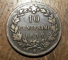 PIECE DE 10  CENTESIMI UMBERTO I 1894 BI (125)