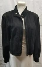 Beau Geste Leatherworks Leather Bomber Jacket Black