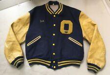 Vintage Oakwood Varsity Jacket Leather Wool Coat Butwin Size 48