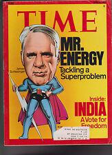 Time Magazine James Schlesinger India April 4 1977