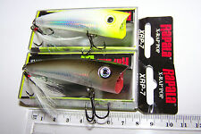 RAPALA FISHING LURES, A PAIR OF  XRP-7, X-RAP POPPER  Barra, Bass, Jacks, Cod. *