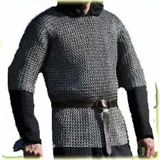 Flat Riveted With Flat Warser Chainmail shirt 10 mm Extra Large Size Half sleeve
