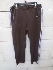 Pantalon ADIDAS vintage années 70 oldschool fuseau marron pant Ventex 162 XS