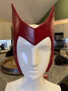 Wandavision Inspired Scarlet Red Sokovian Fortune Teller / Witch Headpiece