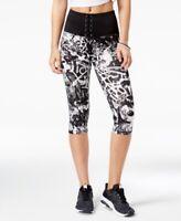 Material Girl Active Womens Juniors Small Capri Leggings High Waist Black White