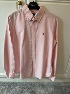 womens ralph lauren shirt pink and white