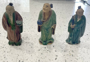 3 Vintage Chinese  Figurines  Imperfect - 1941