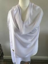 PASHMINA SCARF LARGE 90% Cashmere 10% Silk .  Stunning White .