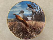 Late Autumn by David Maass Pheasant Plate Collection Danbury Mint