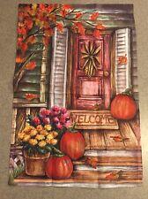 Fall / Autumn Harvest Pumpkins Garden Flag Thanksgiving , Halloween Decoration