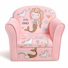 Kids Mermaid Sofa Children Armrest Couch Upholstered Chair Toddler Furniture