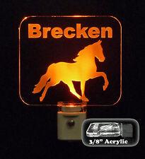 """Personalized Horse LED Night Light - Custom Animal LED Lamp 3/8"""" acrylic"""