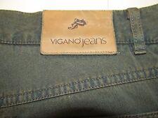 Vigano Green Mens Jeans 38x33 Model AL10 Plaid Pocket