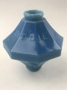 LIGHTNING ROD BALL BLUE GLASS DIDDIE BLITZEN