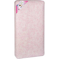 Crib Mattress 150-Coil Sealy Ortho Rest infants and toddlers Pink Paisley Dream