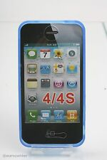 GRIFFIN FLEX GRIP IPHONE 4 4G 4S TASCHE HÜLLE CASE DISPLAYSCHUTZ BLAU