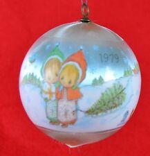 1979 Hallmark Satin Ornament Betsy Clark Christmas Unbreakable Ornament w/ Box