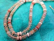 Natural Mexican Opal Rondelle Beads Loose Strung Strand Jewelry Craft 16""