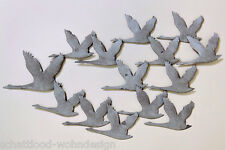 XL colgante de pared Pájaro Pájaros bandada gansos Objeto para metal L 90